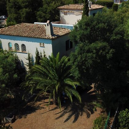 Villa Pastis aeriel front view
