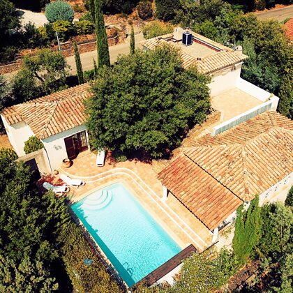 Villa Pastis aeriel view